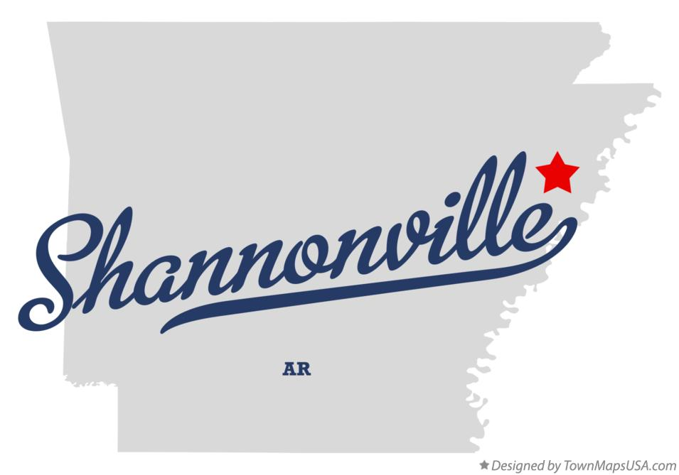 Map of Shannonville Arkansas AR