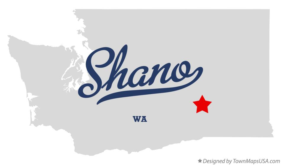 Map of Shano Washington WA