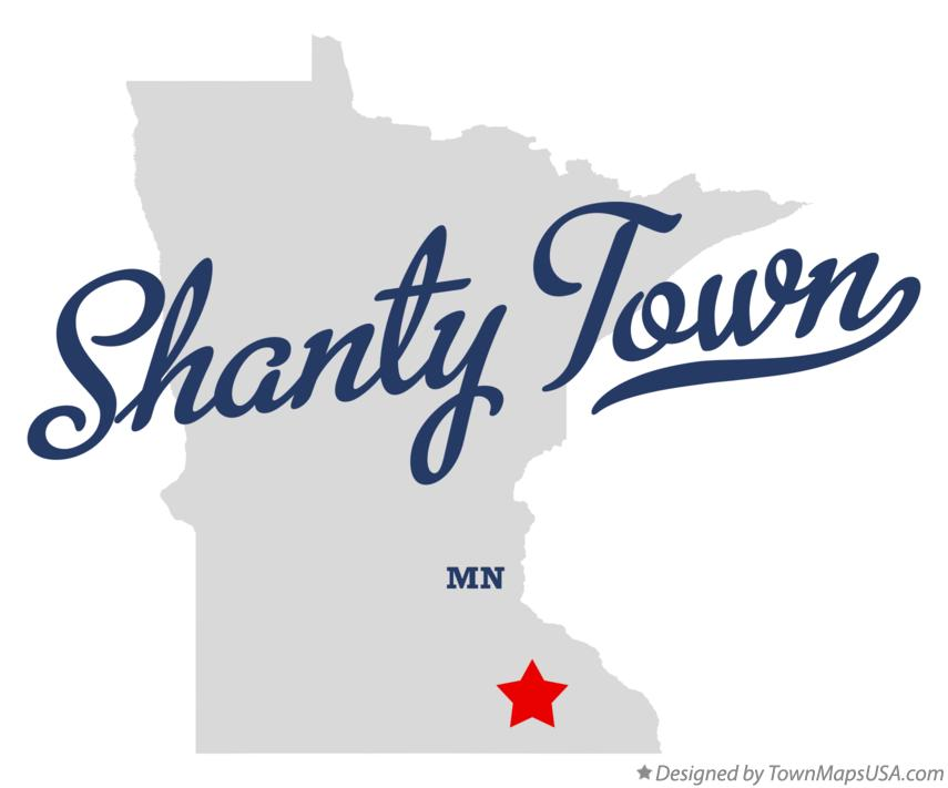 Map of Shanty Town Minnesota MN
