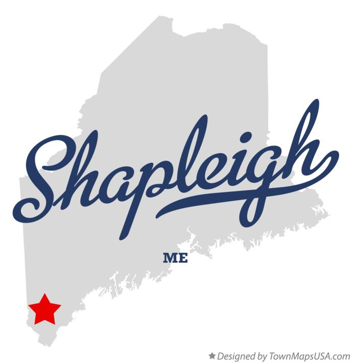 Map of Shapleigh Maine ME