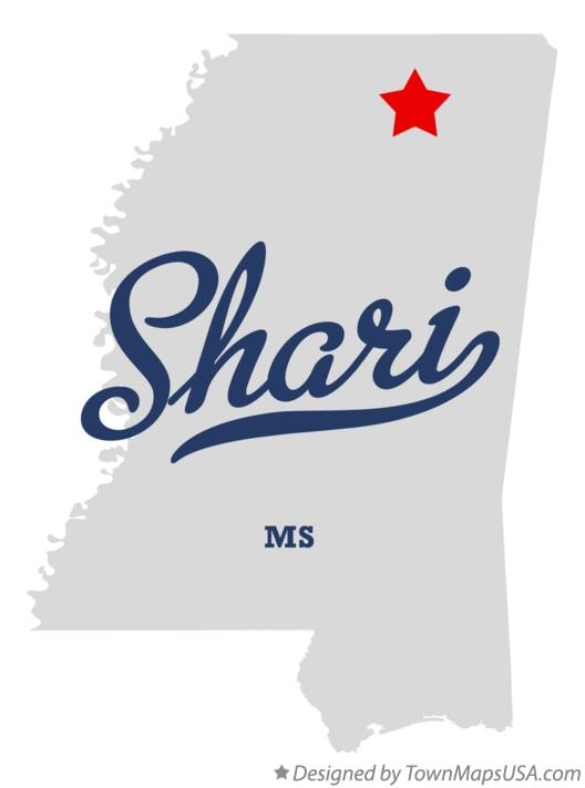 Map of Shari Mississippi MS