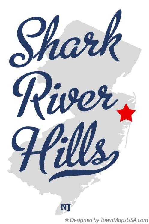 Map of Shark River Hills New Jersey NJ