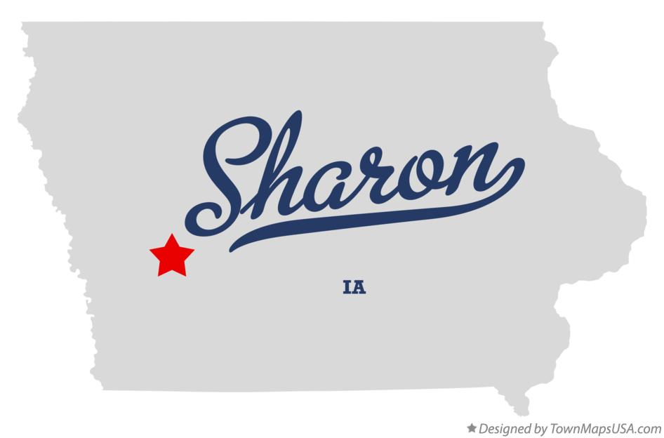Map of Sharon Iowa IA