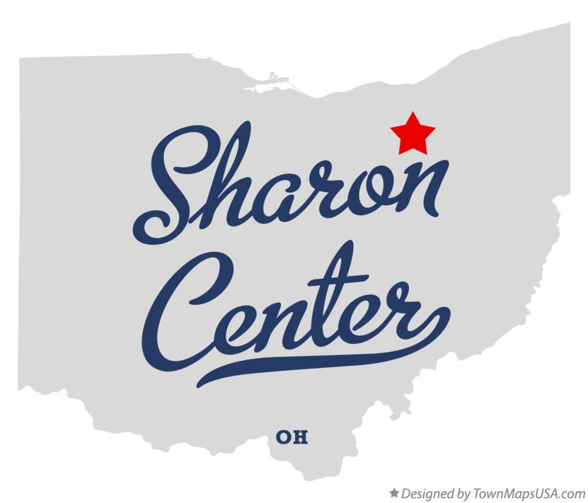 Map of Sharon Center Ohio OH