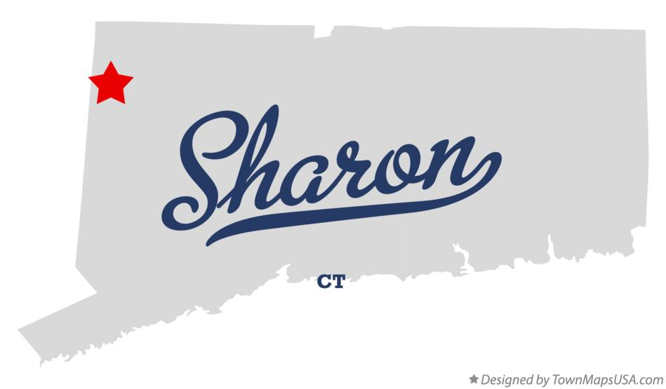 Map of Sharon Connecticut CT