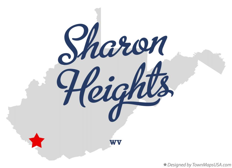 Map of Sharon Heights West Virginia WV
