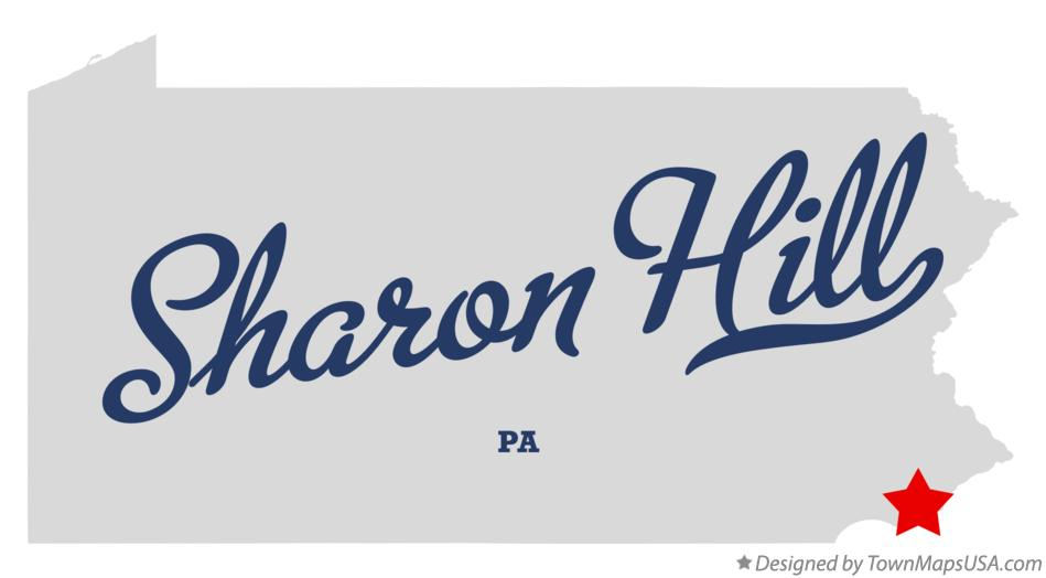 Map of Sharon Hill Pennsylvania PA