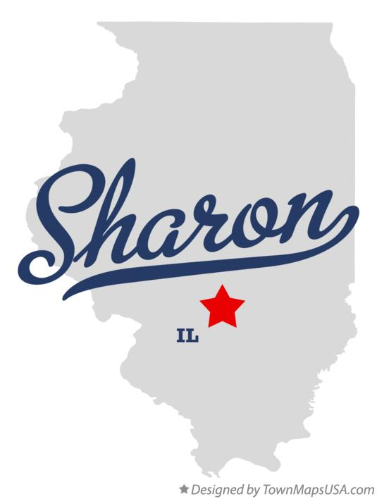 Map of Sharon Illinois IL