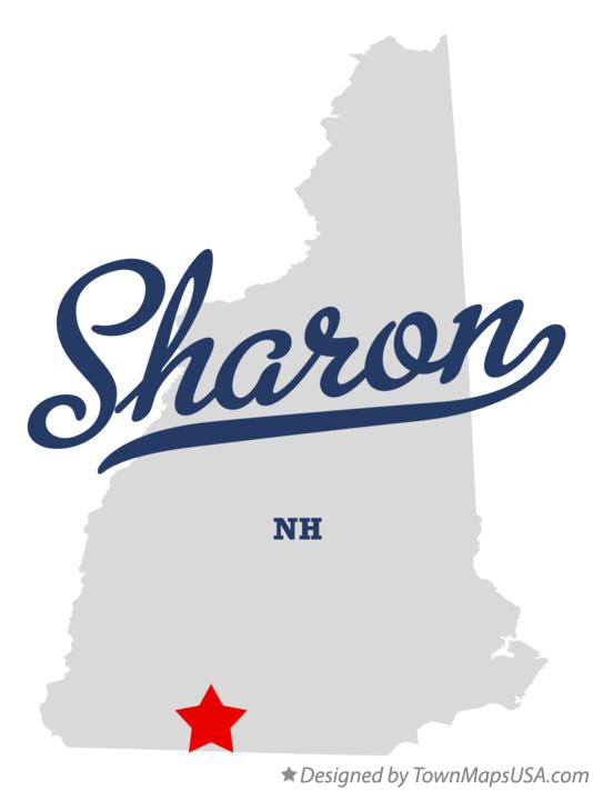 Map of Sharon New Hampshire NH