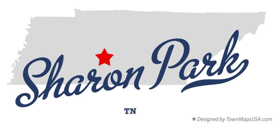 Map of Sharon Park Tennessee TN