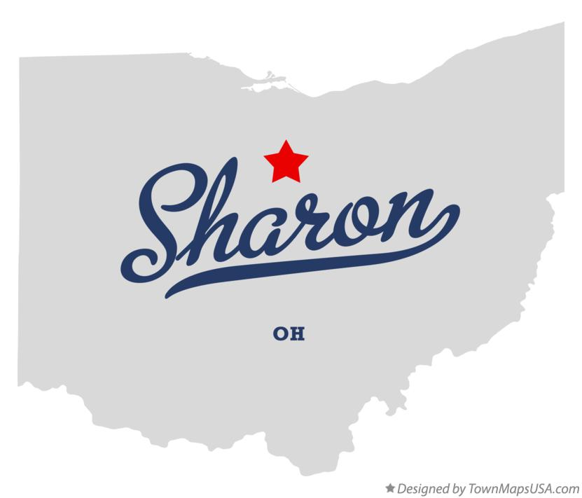 Map of Sharon Ohio OH