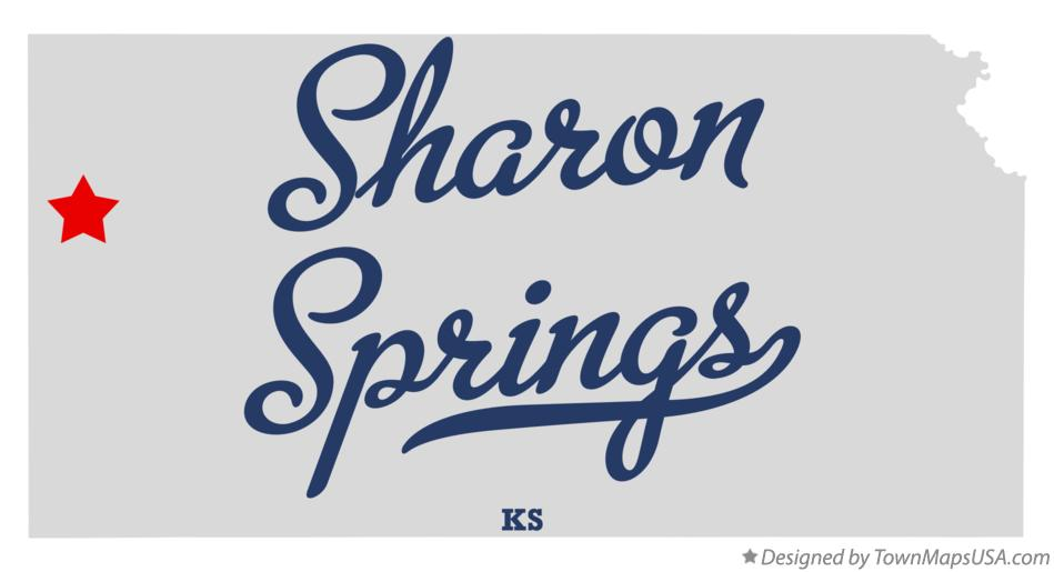 Map of Sharon Springs Kansas KS