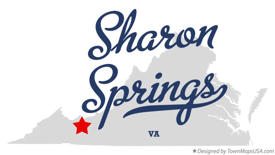 Map of Sharon Springs Virginia VA