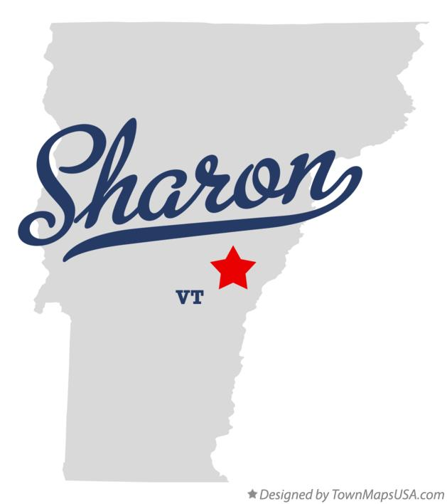 Map of Sharon Vermont VT