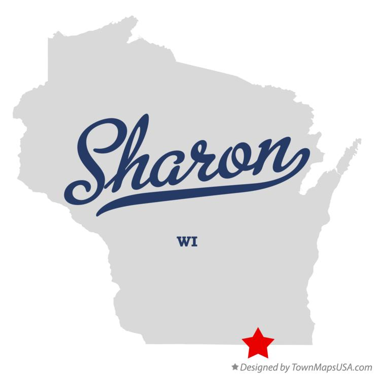 Map of Sharon Wisconsin WI