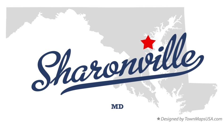 Map of Sharonville Maryland MD