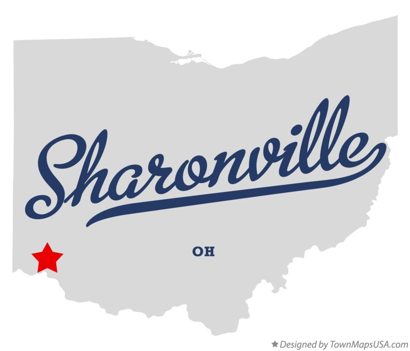 Map of Sharonville Ohio OH