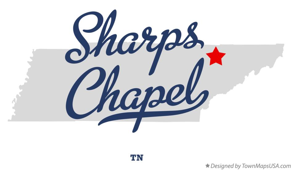 Map of Sharps Chapel Tennessee TN