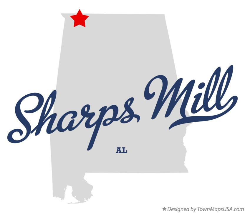 Map of Sharps Mill Alabama AL