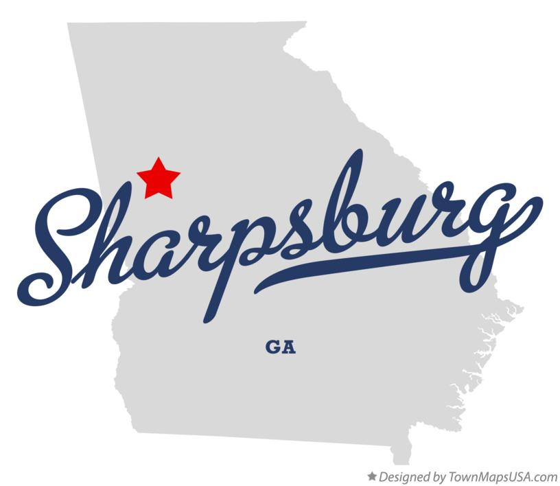 Map of Sharpsburg Georgia GA