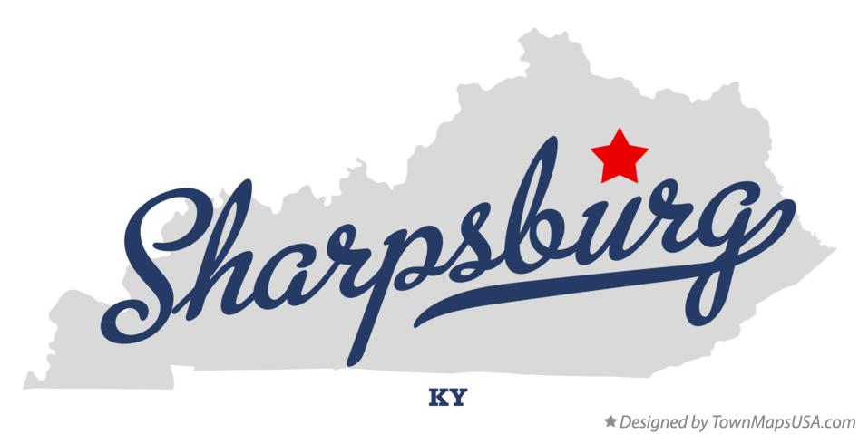 Map of Sharpsburg Kentucky KY