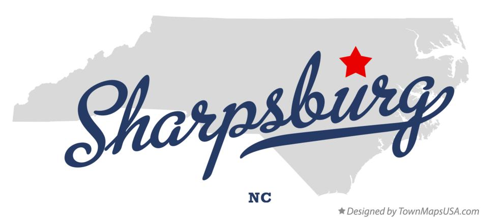 Map of Sharpsburg North Carolina NC