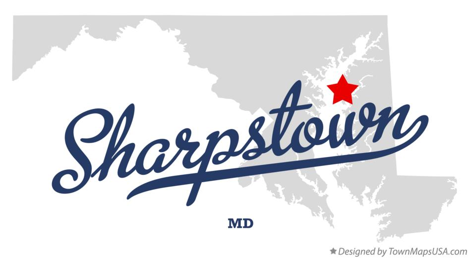 Map of Sharpstown Maryland MD