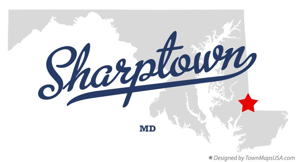 Map of Sharptown Maryland MD