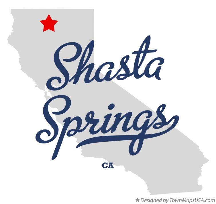 Map of Shasta Springs California CA