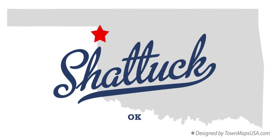 Map of Shattuck Oklahoma OK