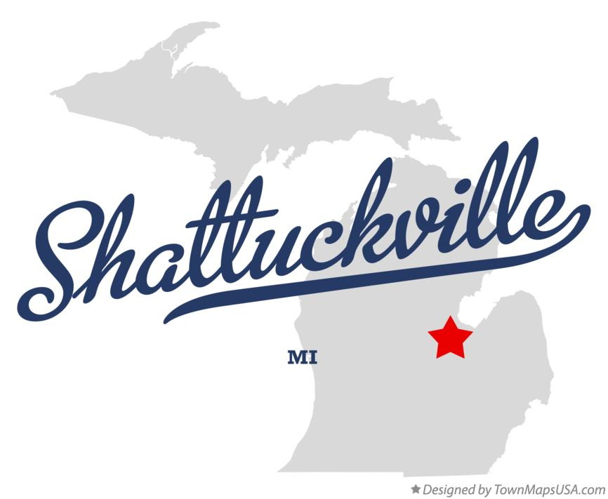 Map of Shattuckville Michigan MI