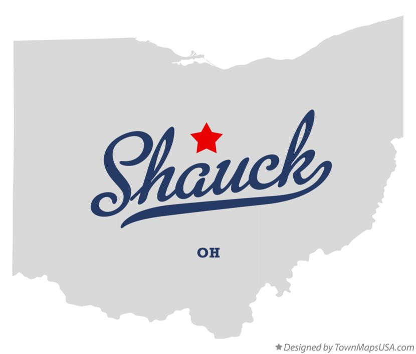 Map of Shauck Ohio OH