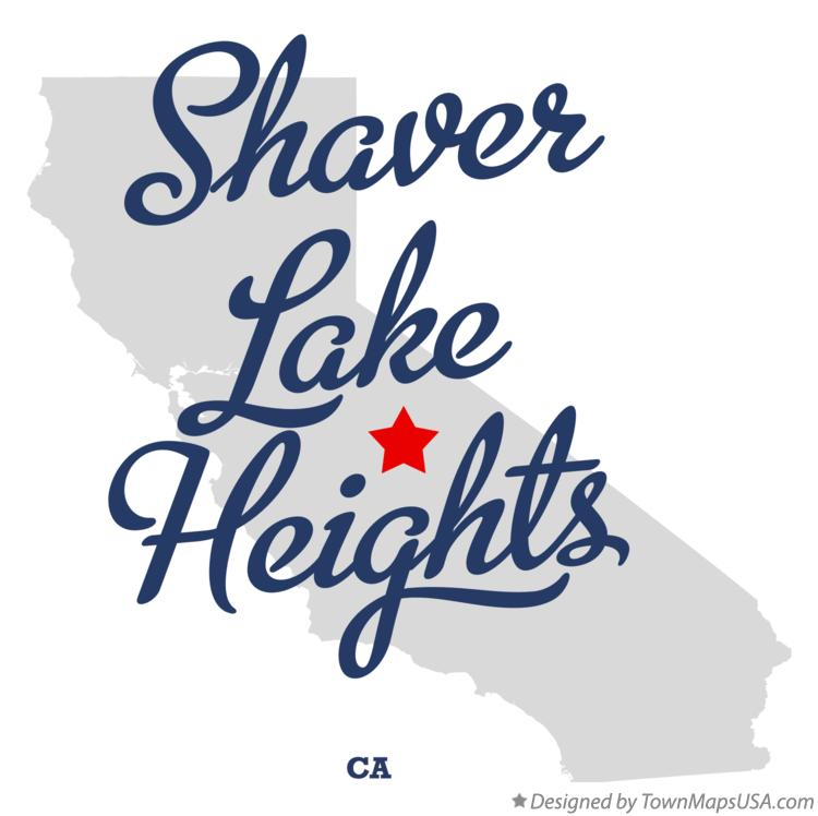Map of Shaver Lake Heights California CA