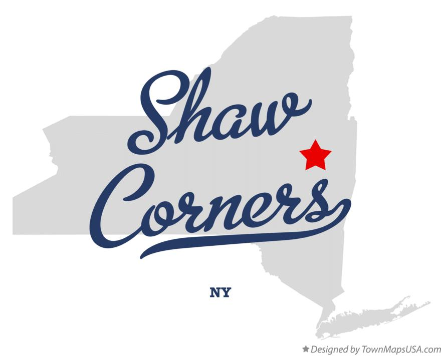 Map of Shaw Corners New York NY