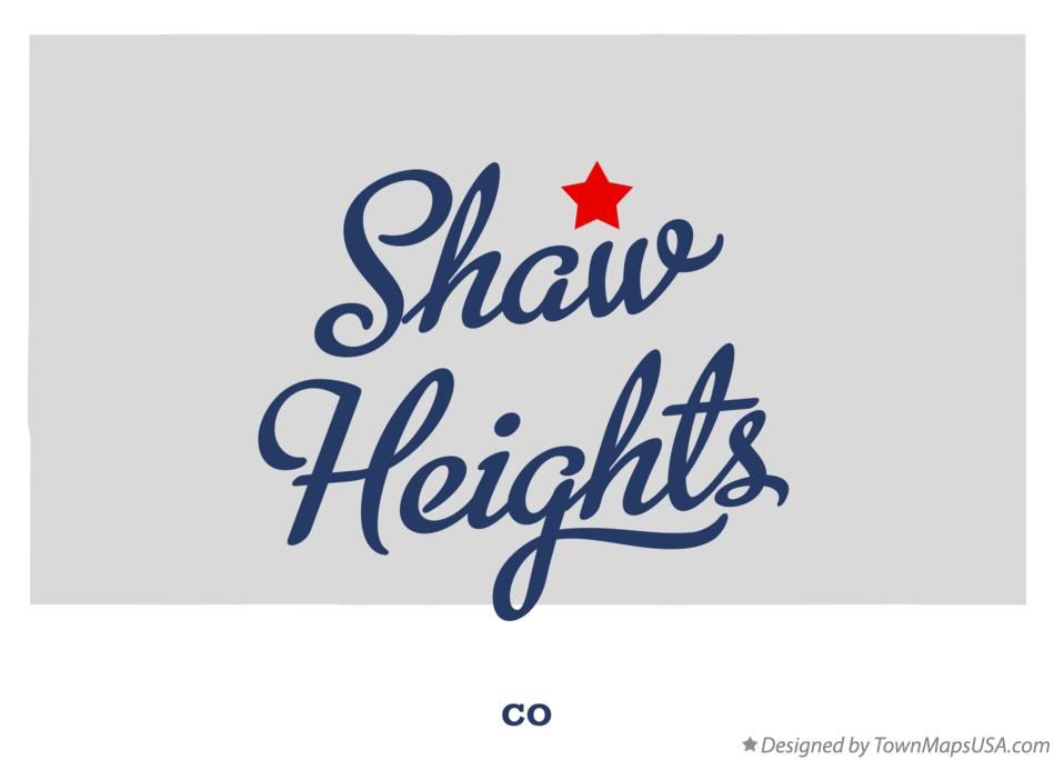 Map of Shaw Heights Colorado CO