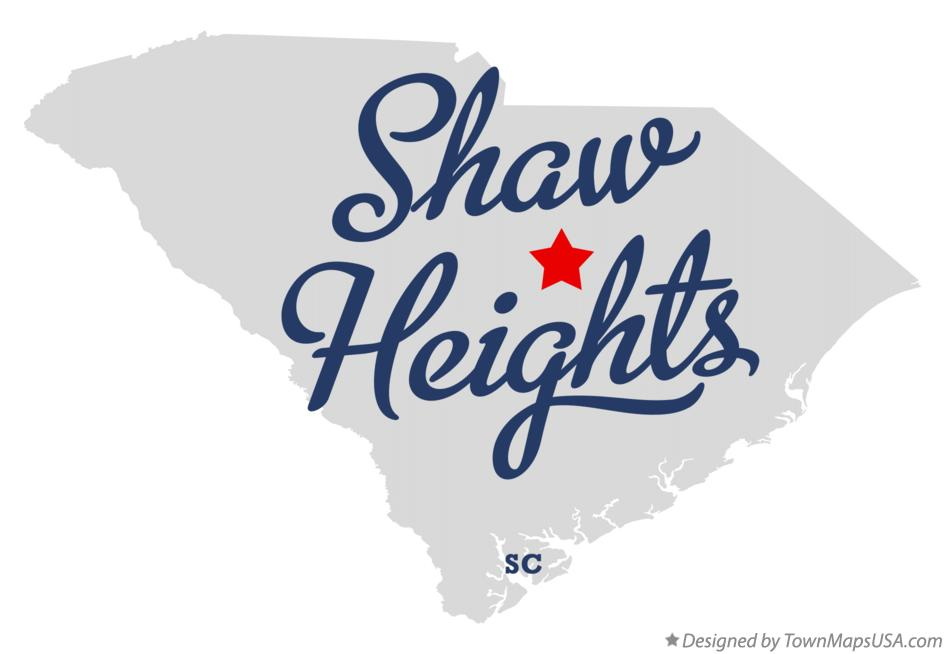 Map of Shaw Heights South Carolina SC