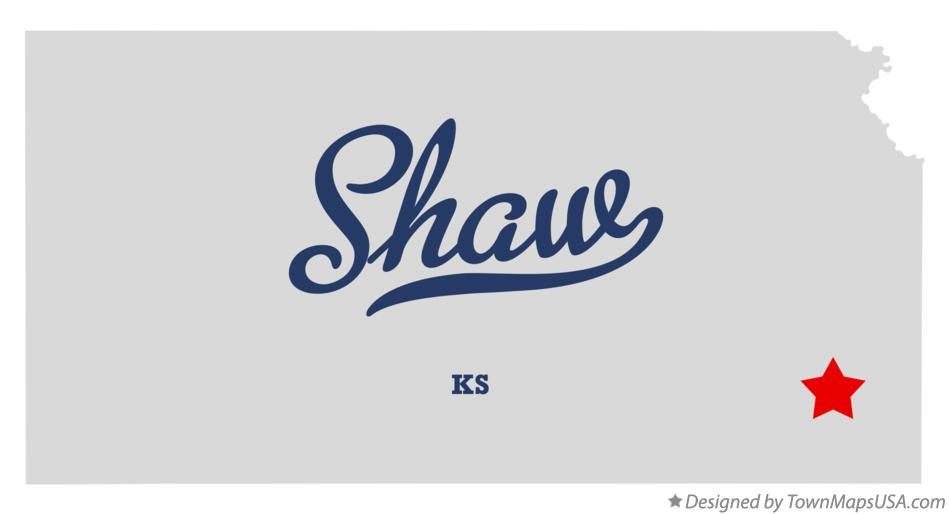 Map of Shaw Kansas KS