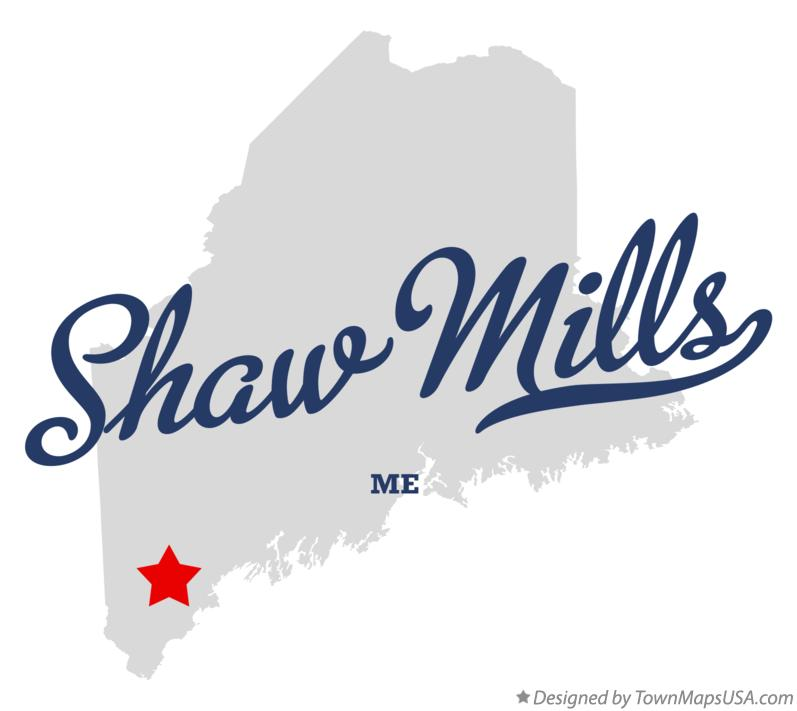 Map of Shaw Mills Maine ME