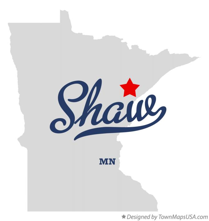 Map of Shaw Minnesota MN