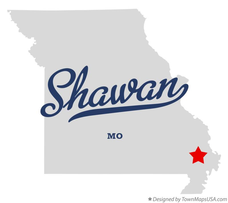 Map of Shawan Missouri MO