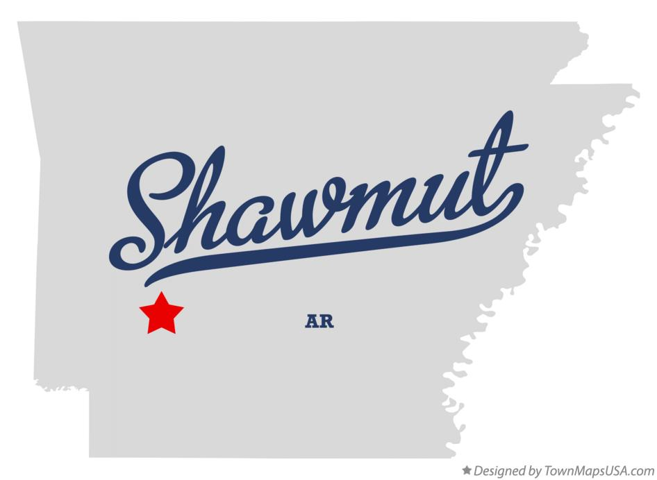 Map of Shawmut Arkansas AR