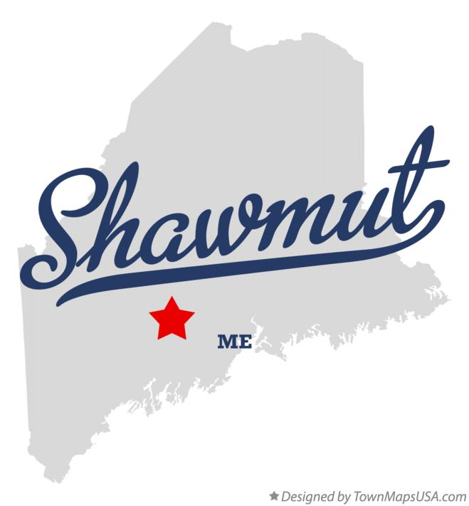 Map of Shawmut Maine ME