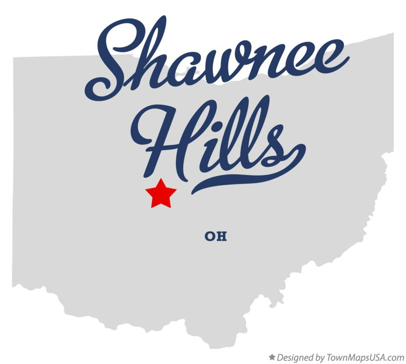 Map of Shawnee Hills Ohio OH