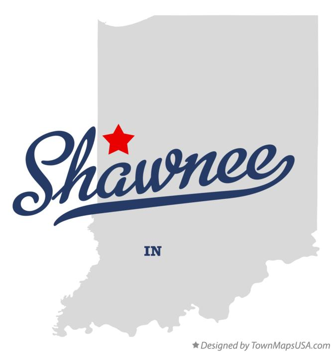 Map of Shawnee Indiana IN