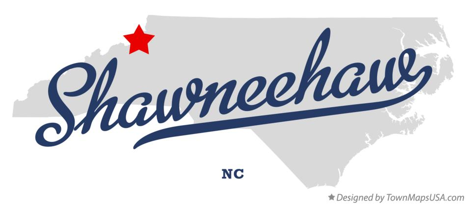 Map of Shawneehaw North Carolina NC