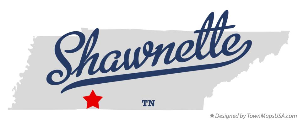Map of Shawnette Tennessee TN