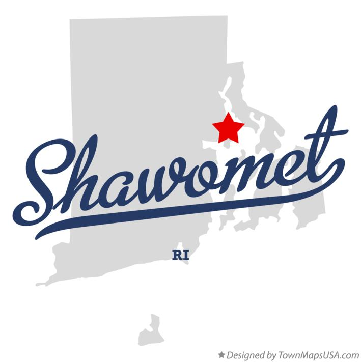 Map of Shawomet Rhode Island RI