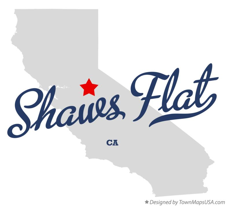 Map of Shaws Flat California CA