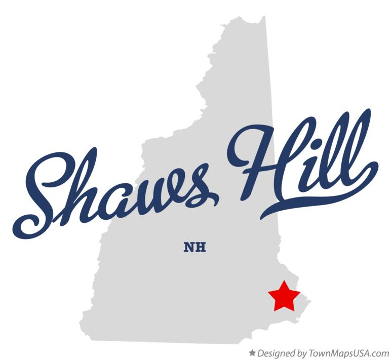 Map of Shaws Hill New Hampshire NH