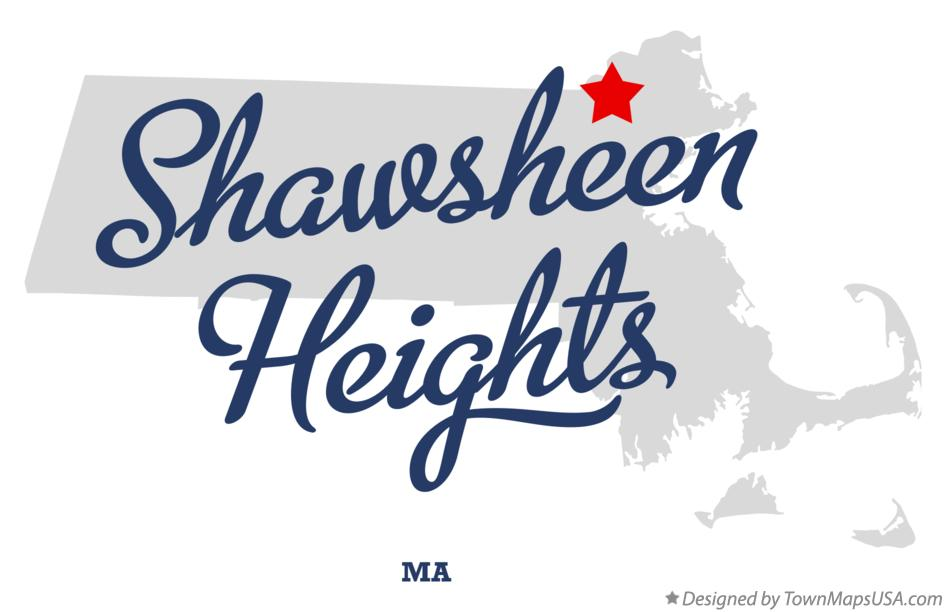 Map of Shawsheen Heights Massachusetts MA